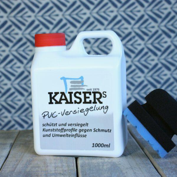 Kaiser's PVC-Versiegelung mit Kaiser's Polier- und Pflegeschwamm