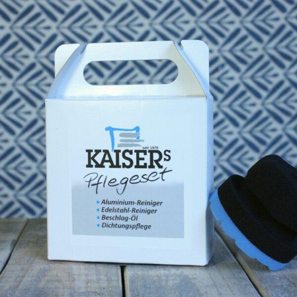 Kaiser's Pflegeset mit Polier- und Pflegeschwamm